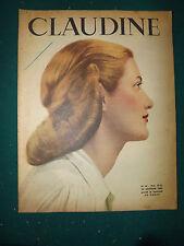 CLAUDINE MAGAZINE  FEMININ N°16  octobre 1945 antic french magazine