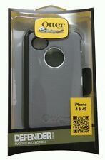 OtterBox Defender Series Case and Holster for iPhone 4/4S - White/Gray