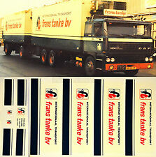 DAF frans tanke bv Holland (NL) 1:87 Truck Decal LKW Abziehbild