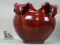 VASE ceramic BARBOTINE 1800 XIX FRANCE Jérôme JEROME MASSIER VALLAURIS VA. 3000€