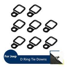 8pcs Heavy Duty D Ring Tie Downs Anchors for 1995-2017 Jeep Wrangler JK YJ TJ