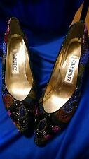 Caparros Beaded Ladies Shoes 7 1/2AA Glass Beads Very Nice! Prom Wedding Evening