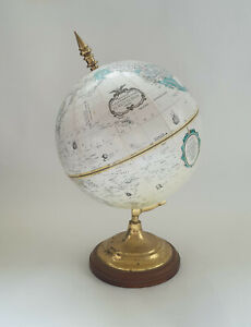 """Vintage Replogle 'World Classic' 9"""" Diameter Globe With Solid Brass Base"""