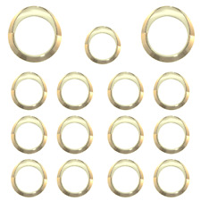 Gold gauge Surround kit to suit Australian Kenworth, 2xSpeedo, 1xPyro, 12xSmall