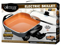"Gotham Steel 12"" XL Electric Skillet with Nonstick Copper Coating, As Seen on TV"