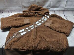 Star Wars Chewbacca Wookie Faux Fur Coat Jacket Costume Large