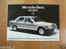 MERCEDES-BENZ 190-190E BROCHURE PROSPEKT FOLDER 1983