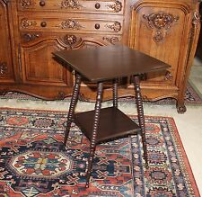 American Antique Bobbin Mahogany Side Table Small Square Accent End Table