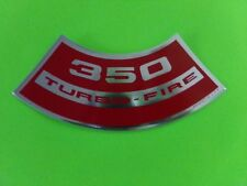 350 TURBO-FIRE GM AIR CLEANER DECAL or 283 307 327 400 Chevy Vette Nova Chevelle