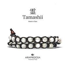 AUTENTICO TAMASHII BRACCIALE TIBET MADREPERLA 2 Giri - Monaci Tibetani