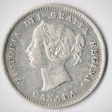Victoria Five-Cents 1871: Thick Blunt 7/Pointed 7