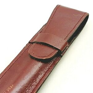 Vintage GENUINE leather case for fountain pen Hungary 1960's