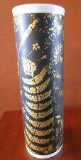 UNIQUE MID CENTURY MODERN ROYAL PORZELLAN KPM BLACK GOLD BOTANICAL VASE