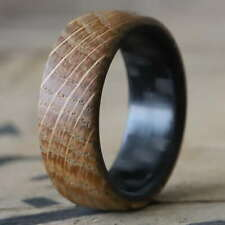 The Distiller - Twill Carbon Fiber and High West Whiskey Barrel Wood Ring