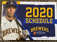 2020 MILWAUKEE BREWERS SCHEDULE ⚾️ Cool Baseball Sked ⚾️ BEER and YELICH 🍻🍻