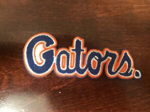 """UF Florida Gators Vintage Embroidered Iron On Patch 3.75"""" X 1.5"""" NICE QUALITY"""