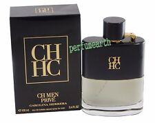 CH Prive Men By Carolina Herrera 3.3/3.4oz. Edt Spray For Men New In Box