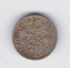 1956 Sixpence 6p COIN  British UK Great Britain Y-12