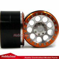 2pcs RC Crawler Alum Alloy 2.2 beadlock wheels Rims Fit RC 2.2 crawler Tire Tyre