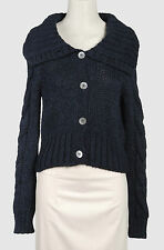 LO not EQUAL Made in Italy blue cardigan sweater jumper maglione donna blu S NWT