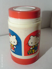 Hello Kitty Thermos 1983 Sanrio 4 Red & Blue HK Images Carrying Lunchbox/canteen
