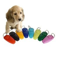 Pet Training Whistle Keyring Puppy Dog Cat  Click Clicker Interactive Obedience