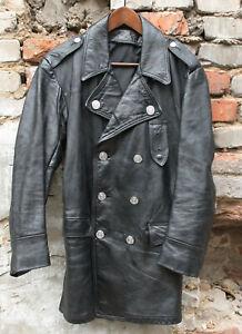 vintage Philadelphia Police patrol leather coat US ~36-38