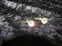 Set of Signed Swarovski Crystal Gold Tone Pierced Ear Earrings