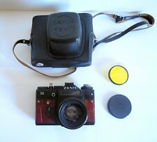 Zenit 11 Film Camera with Helios 44-2 58mm Lens, New Leather + Case + Lens Cap