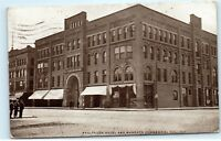 1909 Saulpaugh Hotel Mankato Commercial College Minnesota MN Postcard B22