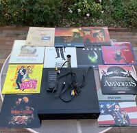 RARE PIONEER CLD-1090 LASERDISC PLAYER BUNDLE WITH REMOTE & 11 CLASSIC MOVIES