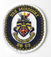 USS MISSOURI US USN UNITED STATES NAVY EMBROIDERED PATCH 4 INCHES