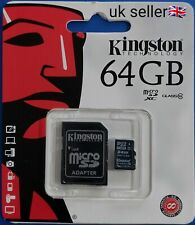 Kingston Micro SD xc + Adaptor  64GB  UK Seller