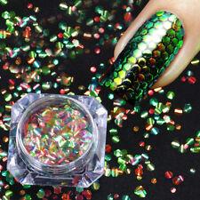 Shining Mermaid Nail Glitter Sequins Hexagon Scales Nail Art Decoration DIY Tips
