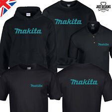 Makita Black T-shirt Hoodie Polo Shirt Jumper S-5XL Power Tools Adults Work Wear