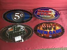 lot of 10 IGT Slot Machine Oval Topper Inserts HOT NEW GAME 5cent plus others