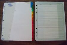 Tab Page Amp Accessory Lot Franklin Covey Planner Refill Fill Set Withaddress Pages