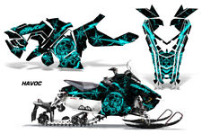 Polaris AXYS RUSH Pro S Sled Wrap Graphic Decal Kit Snowmobile 2015+ HAVOC MINT