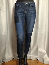 Lucky Brand Women's Rare Straight Blue Jeans Square Patches Size 6/28 *EUC*
