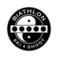 Biathlon Decal - Yin-Yang Target Bar - 3.0 Inches