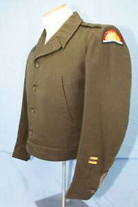 WW2 US Army Jacket Field Officers USA ETO Jacket 3rd Army /41st Division