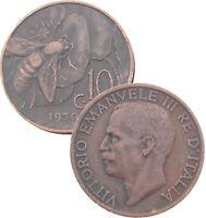 ITALY ITALIA 10 Centesimi 1920-1937 KM#60 Vitorio-Emanuele III  Choose Your Date