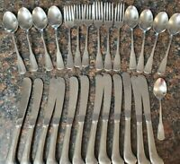 SSS Oneida Colonial Boston Minute Man Used Stainless Flatware LOT (27) pcs.