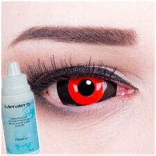 Farbige crazy Kontaktlinsen Blood Cell Sharingan Halloween Fasching Cosplay rot