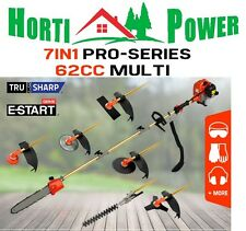 GARDEN TOOL 62CC 7IN1 MULTITOOL CHAINSAW BRUSHCUTTER HEDGE TRIMMER +2 EXTNS