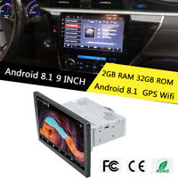 """Android 8.1 Singal Din 9"""" 8 Core Car Stereo Radio Wifi 3G 4G Mirror Link TPMS"""
