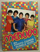1983 Topps MENUDO (Latin Rock Band) Full Box of 36 Sealed Trading Card Packs