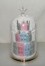 BBW Wallflowers Fragrance Night Light Plug In Diffuser - Holiday Village Cloche