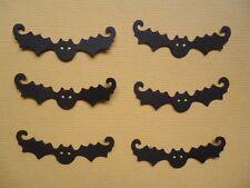 6 SPOOKY BAT EMBELLISHMENTS DIE CUTS  SCRAPBOOKING HALLOWEEN ANIMALS DUSK BATS