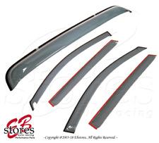Tape-On Sunroof Rain Guard Visor Light Grey 5pcs For 2001-2006 Acura MDX